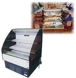 3尺ヒナ段冷蔵オープンケース(棚2段)